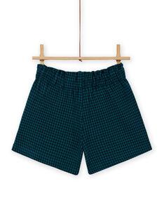 Mädchen Papiertüte milano Shorts mit Karos MATUSHORT / 21W901K1SHO070