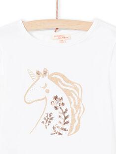 Mädchen-T-Shirt in Ecru MAJOYTEE3 / 21W90111TML001