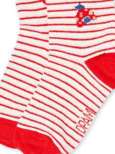 Baby Mädchen rot und ecru Socken LYICANSOQ / 21SI09M1SOQ001