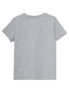 Einfarbig grau chiniertes kurzärmeliges T-Shirt für Jungen JOESTI3 / 20S90263D31J922