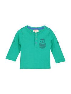 Baby-T-Shirt mit tunesischem Kragen für Jungen FUJOTUN4 / 19SG1034TML630