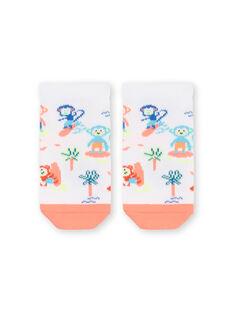 Weiß und orange Baby Jungen Socken LYUBONCHO2 / 21SI10W2SOQ000