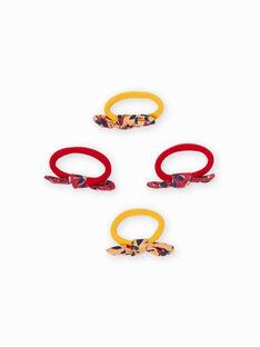 Set aus 4 Gummibändern mit Schleifen, Mädchen MYAJOELA3 / 21WI01S6ELAB106