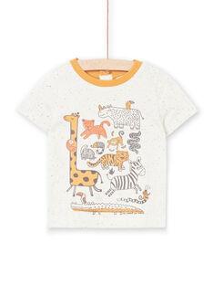 T-Shirt Ärmel ecru chiné Baby Junge LUTERTI2 / 21SG10V4TMC006