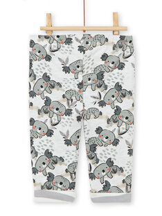 Wendehose in Grau und Ecru mit Koalas-Print LUPOEPAN2 / 21SG10Y1PAN001