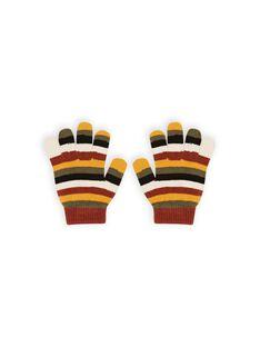 Gestreifte Handschuhe für Junge MYOGROGAN6 / 21WI0267GAN809