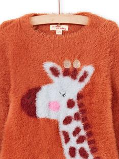 Langarmpullover für Mädchen mit Giraffenmotiv MACOMPULL / 21W901L1PUL420