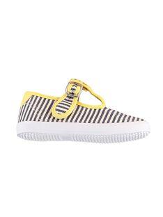 Naturweiße Salomé-Schuhe aus Tuch JBGSALRAYE / 20SK38Z1D17001