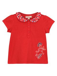Baby-T-Shirt mit Claudine-Kragen für Mädchen FITOBRA / 19SG09L1BRA330