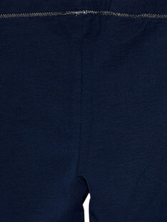 Marineblaue Mädchen-Leggings JYAESLEG2 / 20SI0163D26070