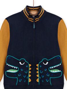 Gelb-marineblaue Strickjacke für Jungen MOTUGIL1 / 21W902K1GIL705