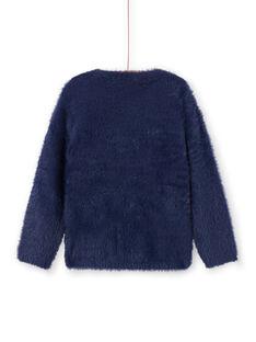 Baby Mädchen marineblau faux Pelz Pullover MATUPULL / 21W901K1PUL070