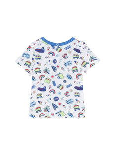 Weißes kurzärmeliges T-Shirt JUQUATI3 / 20SG10R3TMC000