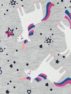 Grau melierte Jogginghose, Einhorn-Print LAJOBAJOG1 / 21S90141D2A943