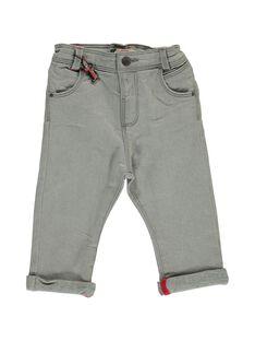 Baby boys' grey jeans DUROUJEAN / 18WG1021JEAK004