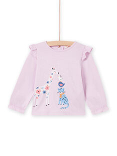Baby Mädchen Rosa Fantasy T-Shirt MIPLATEE / 21WG09O1TML326