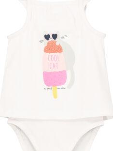 Baby-Body mit 2-in-1-Effekt für Mädchen  FICUBOD / 19SG09N1BOD000