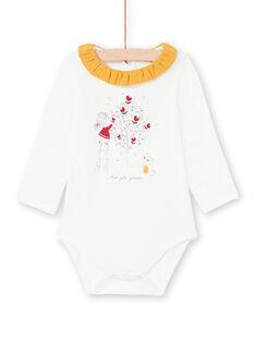 Baby Girl's Ecru und Senf Bodysuit MIMIXBOD1 / 21WG09J2BOD001