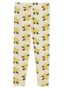 Gelbe Leggings mit Muster JYASOLEG2 / 20SI0181CAL001