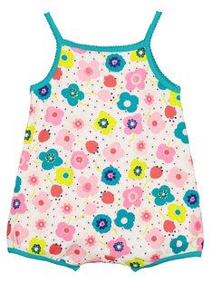 Kurzer Strampler für Babys Mädchen FEFIGRELEA / 19SH13H4GRE000