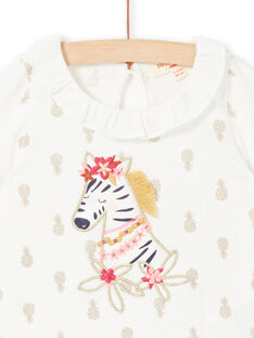 Baby Mädchen Ananas T-Shirt LITERBRA / 21SG09V1BRA001