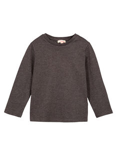 Langarm-T-Shirt Uni ANTHRAZITGRAU MELIERT GOESTEE4 / 19W902U4D32944