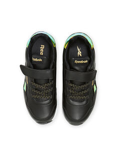 Schwarze Reebok-Sneakers mit holografischen Details Kind Mädchen MAG57518 / 21XK3541D36090
