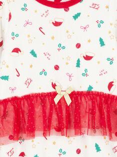 Samtweicher Weihnachtsstrampler für Mädchen GEFIGRENOEL / 19WH13T1GRE001