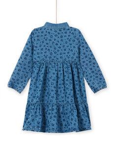 Kleid aus Baumwoll-Denim mit Leopardenmuster LABLEROB1 / 21S901J2ROBP274