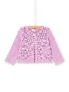 Baby Mädchen rosa durchbrochene Strickweste LIVICAR / 21SG09U1CAR320
