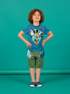 Khaki-Shorts für Kinder LOVERBER3 / 21S902Q3BERG631