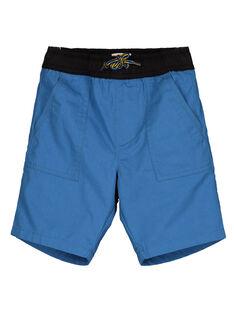 Mittelblaue Bermudashorts aus Baumwoll-Serge GOBLEBER / 19W90292BERC232