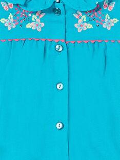 Baby Mädchen türkisfarbenes Kleid LIVERROB4 / 21SG09Q1ROBC216