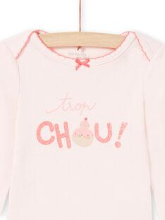 Baby Mädchen blass rosa Strampelanzug MEFIBODCHOU / 21WH13B1BDLD310