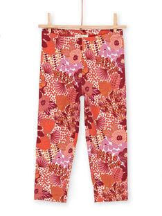Rote Leggings für Kinder und Mädchen LYATERLEG / 21SI01V1CAL001