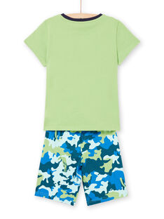 Kinder Schlafanzug grün und blau LEGOPYCANI / 21SH12C8PYJ617
