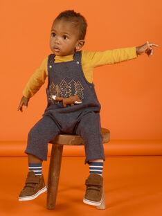 Baby Junge kohlegrauer Overall mit ausgefallenen Füchsen MUSAUSAL / 21WG10P1SAL944
