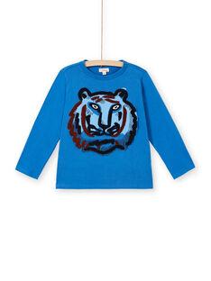 Blaues Baumwoll-T-Shirt für Jungen LOBLETEE2 / 21S902J3TML702