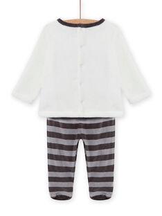 Baby-Jungen-Pyjama-Set mit Waschbär-Motiv und weicher Boa MEGAPYJEUR / 21WH1491PYJ001