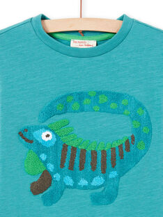 Türkisblaues T-Shirt Kind Junge Fantasy-Animation MOTUTEE5 / 21W902K2TMLC239