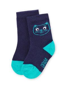 Blaue Socken für Baby-Jungen mit Katzenkopf-Design MYUJOCHOU4 / 21WI1011SOQ713