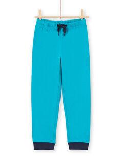 Blau-weißes T-Shirt und Hose Pyjama-Set für Jungen MEGOPYJLOU / 21WH1233PYJJ920
