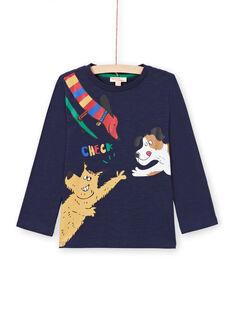 Jungen-T-Shirt in Marineblau MOMIXTEE5 / 21W902J4TML717