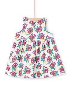 Weißes Baby Mädchen Kleid LIPLAROB4 / 21SG09T4ROB000