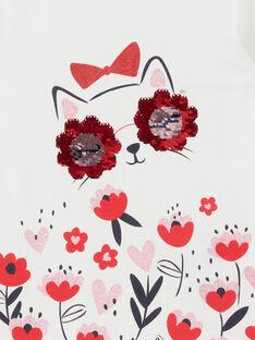 Langärmeliges T-Shirt, Katzen- und Blumendruck LAROUTEE2 / 21S901K2TML001