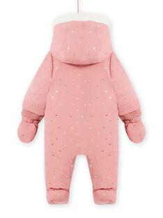 Baby Mädchen rosa Kapuzenpullover mit Tupfen MIKAPIL / 21WG0961PIL303