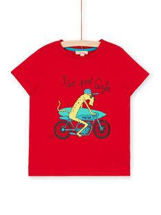 Rotes T-shirt Kind Junge LOJOTI9 / 21S902F3TMC050