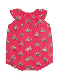 Weißer Baby-Spielanzug für Mädchen, bedruckt JIBOBAR / 20SG09H2BAR302