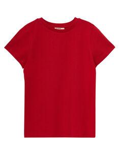 Einfarbig rotes kurzärmeliges T-Shirt für Jungen JOESTI4 / 20S90264D31F505