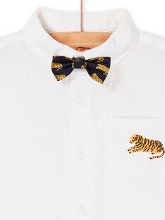 Weißes Hemd mit Fliege Junge LOJAUCHEM1 / 21S902O2CHM000